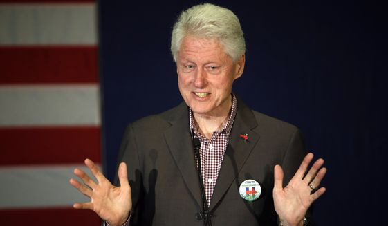 Former President Bill Clinton speaks in Portland, Ore., Thursday, May 5, 2016, while campaigning for his wife, Democratic presidential candidate Hillary Clinton. (AP Photo/Don Ryan) ** FILE **