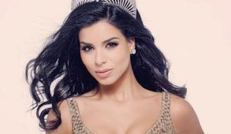 Rima Fakih, believed to be the first Muslim woman to be crowned Miss USA, has reportedly converted to Christianity. (Twitter/@RimaFakih)