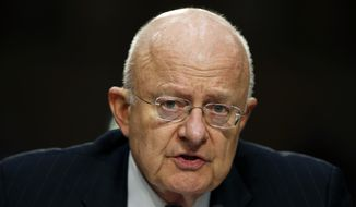 In this Feb. 9, 2016 file photo, Director of the National Intelligence James Clapper testifies on Capitol Hill in Washington. (AP Photo/Alex Brandon, File)