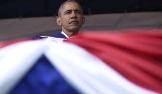 President Barack Obama attends the commencement ceremony for the 2016 graduating class of Howard University in Washington, Saturday, May 7, 2016. (AP Photo/Susan Walsh)