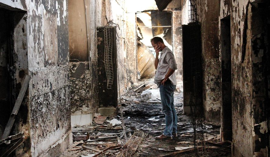 The Doctors Without Borders hospital in Kundiz, Afghanistan, was charred by a U.S. airstrike intended for a Taliban-infested building 480 yards away. A review of U.S. Central Command's hundreds of pages of investigative files shows a series of botched decisions resulted in the deaths of 42 patients and staff. (Associated Press)