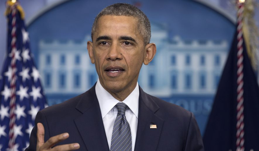 In this photo taken May 6, 2016, President Barack Obama speaks in the briefing room of the White House in Washington. There's no cheering at the White House for Donald Trump, but his ascent as the presumptive Republican nominee means a few of President Barack Obama's key achievements could be more likely to survive after he leaves office.  (AP Photo/Carolyn Kaster)