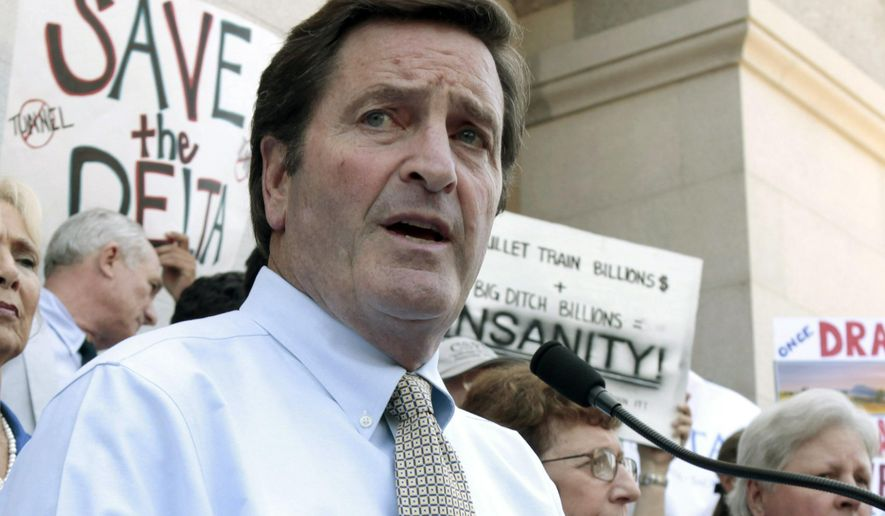 FILE - In this July 25, 2012 file photo, Rep. John Garamendi, D-Walnut Grove, speaks during a water project protest at the Capitol in Sacramento, Calif. Garamendi will be facing two Republican opponents in the California Primary on June 7, 2016. (AP Photo/Rich Pedroncelli, File)