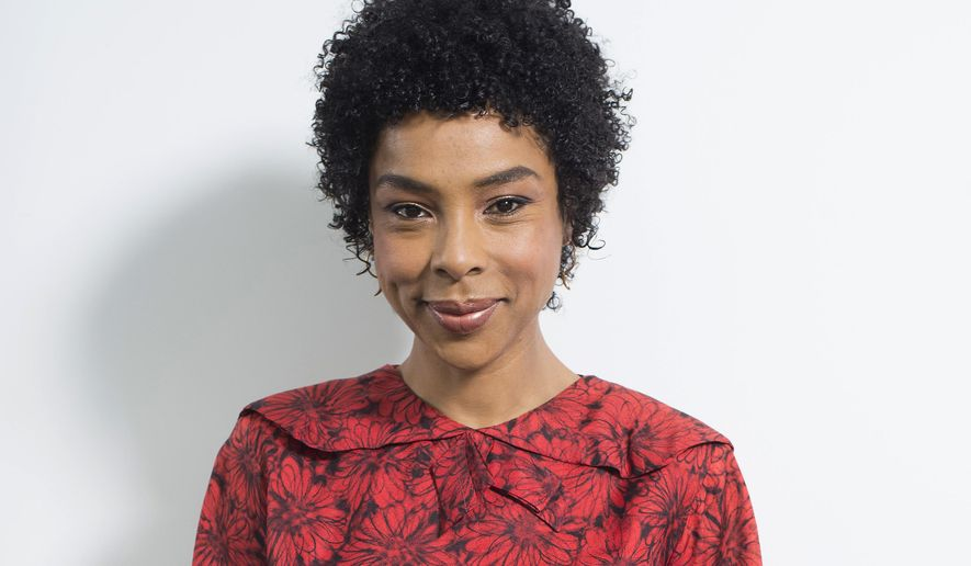 "In this April 26, 2016 photo, actress Sophie Okonedo, who is starring in the Broadway revival of ""The Crucible,"" poses for a portrait in New York. Okonedo was nominated for a Tony Award for her role in the production. (Photo by Scott Gries/Invision/AP)"