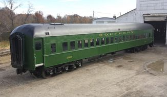 Rail Car No. 1200 was restored by a team of 20 craftsmen in Kentucky before it began its journey to the National Mall in Washington. (Photo courtesy of the Smithsonian Institution.)