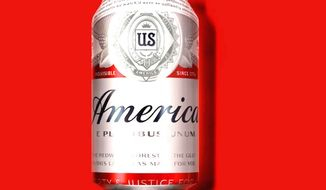 "Anheuser-Busch, Inc. will replace Budweiser labels with ""America"" until after the 2016 election season ends. It's motto, ""The king of beers,"" will also be replaced with  ""E Pluribus Unum."" (Budweiser)"