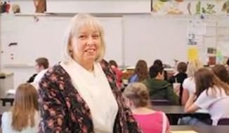"Thousands have rallied behind RevaBeth Russell, a Utah biology teacher who said she was banned from the high school where she's taught for 32 years after she uttered the words ""boob"" and ""condom"" in class. (FOX 13)"