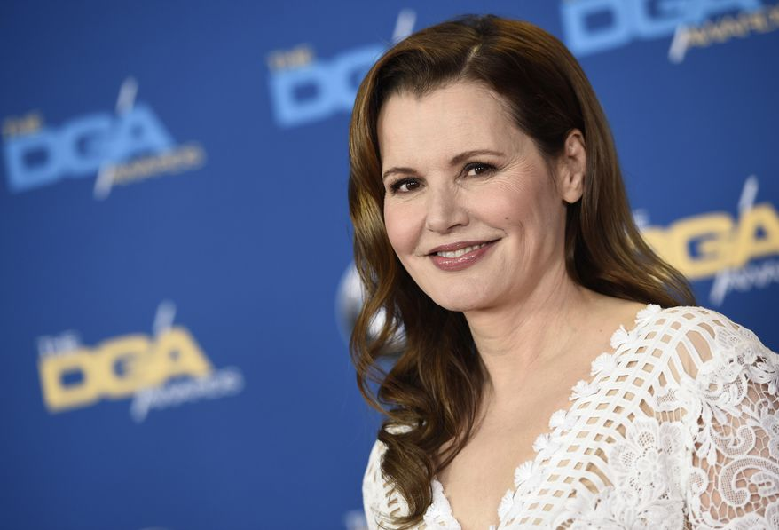 """FILE - In this Feb. 6, 2016 file photo, actress Geena Davis poses at the 68th Directors Guild of America Awards at the Hyatt Regency Century Plaza in Los Angeles. Two series based on big-screen hits will be part of Fox's new TV season. The network said Tuesday, May 10, 2016, it's ordered """"Lethal Weapon"""" starring Damon Wayans Sr. and """"The Exorcist"""" with Davis for the 2016-17 season. (Photo by Chris Pizzello/Invision/AP, File)"""