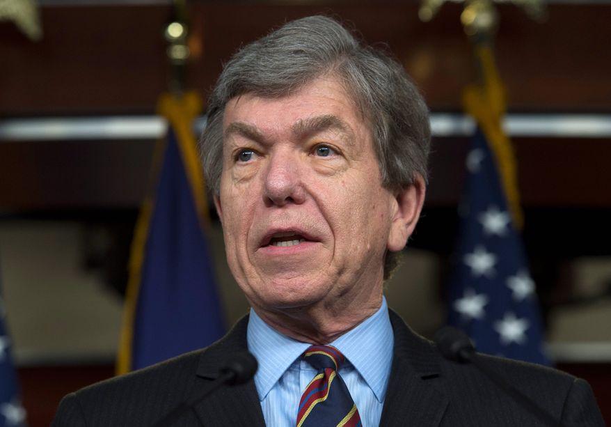 Sen. Roy Blunt, Missouri Republican. (Associated Press) ** FILE **
