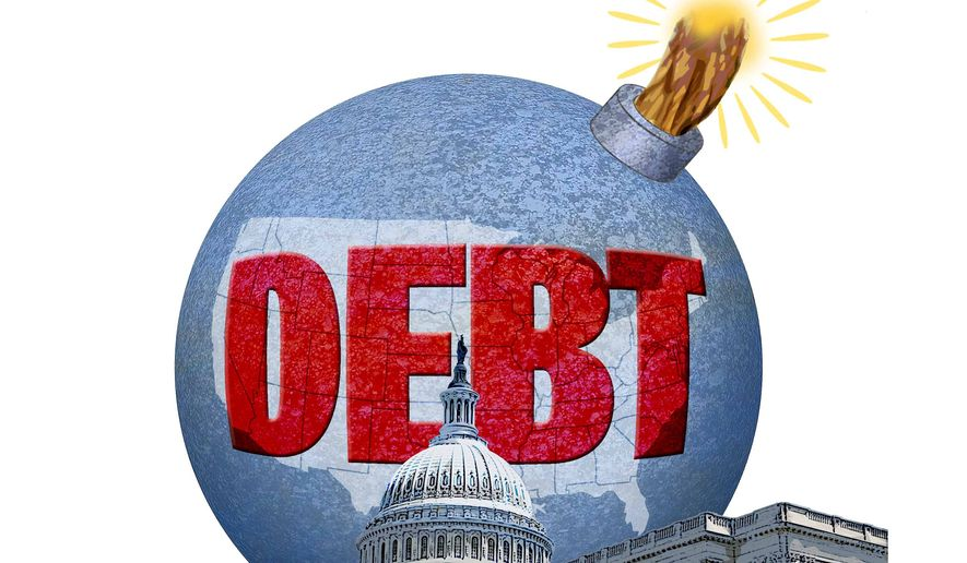 The Debt Bomb Illustration by Greg Groesch/The Washington Times
