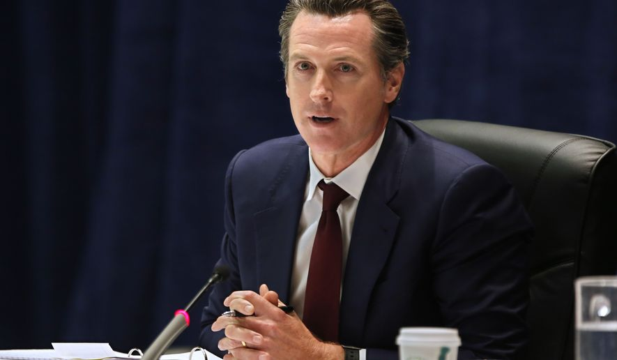 California Lt. Gov. Gavin Newsom discusses a proposal to expand financial aid to student athletes in the event of a career-ending sports injury, during a meeting of the University of California governing board, Wednesday, May 11, 2016, in Sacramento, Calif. The board approved the plan to greatly expand the number of student-athletes guaranteed financial aid to complete their studies if they have a career-ending injury. (AP Photo/Rich Pedroncelli)