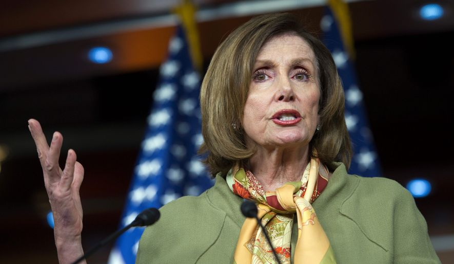 House Minority Leader Nancy Pelosi of California slammed Republicans for refusing to provide emergency funding to battle the nationwide opioid epidemic. (Associated Press)