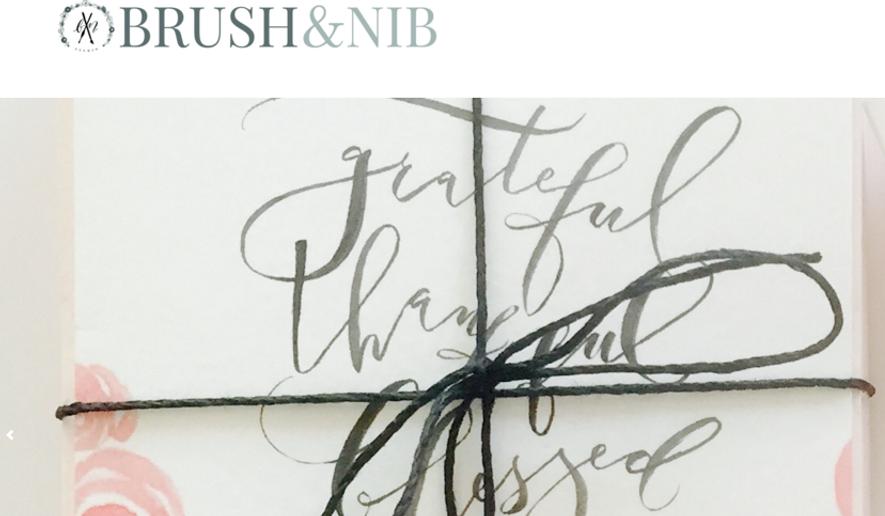 Screenshot, Brush & Nib website.