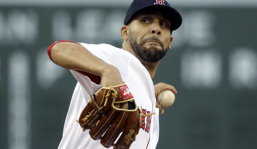 Boston Red Sox starting pitcher David Price delivers to the Houston Astros during the first inning of a baseball game at Fenway Park, Thursday, May 12, 2016, in Boston. (AP Photo/Elise Amendola)