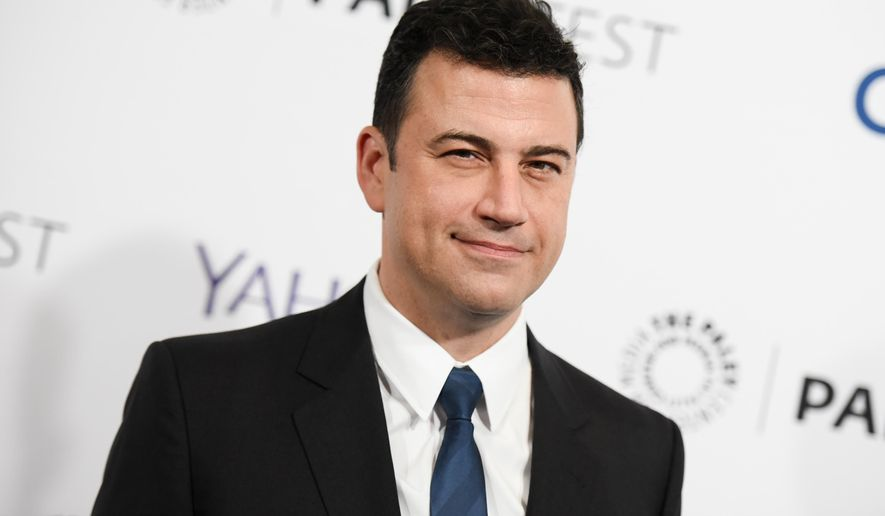 "FILE - In this March 8, 2015, file photo, Jimmy Kimmel arrives at the 32nd Annual Paleyfest : ""Scandal"" held at The Dolby Theatre in Los Angeles. Kimmel says he's looking for a new job - vice president of the United States. The ABC jokester launched his ""campaign"" on his show Thursday, May 12, 2016, with a speech on Hollywood Boulevard. Kimmel said that ""it's time to take our country back! From whom? I don't know, but I want it back."" (Photo by Richard Shotwell/Invision/AP, File)"