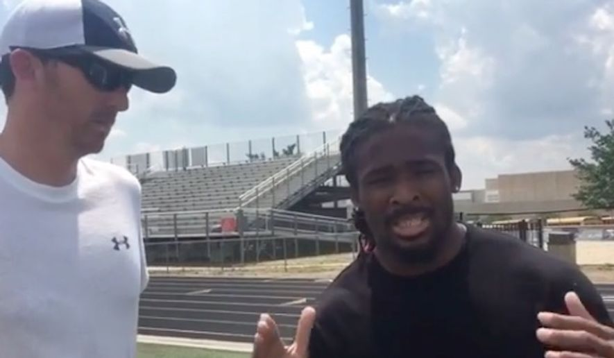"""Pittsburgh Steelers running back DeAngelo Williams feels so strongly about """"this entitlement age"""" that he recently revoked his daughter's participation ribbon after she failed to place in a Field Day activity at her school. (Instagram/@deangelowilliams)"""