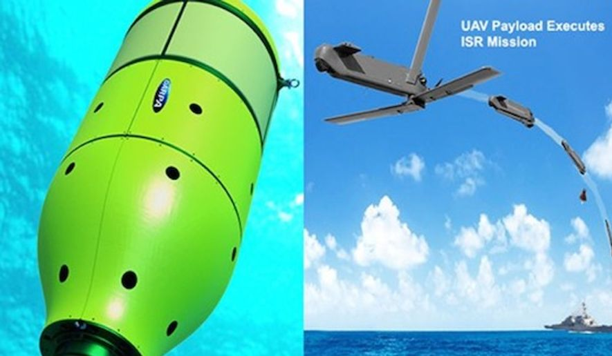 "The Defense Advanced Research Projects Agency says its ""Upward Falling Payload"" is ready for Phase 3 testing in the deep sea. (DARPA)"