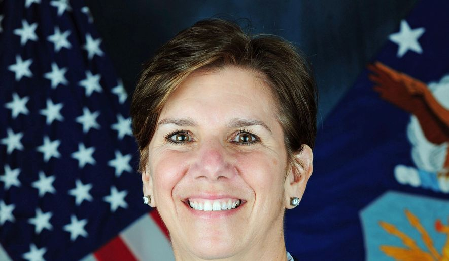 This undated U.S. Air Force photo shows Gen. Lori Robinson, the new commander of the North American Aerospace Defense Command (NORAD), and U.S. Northern Command at Peterson Air Force Base, Colo.  (U.S. Air Force via AP) **FILE**