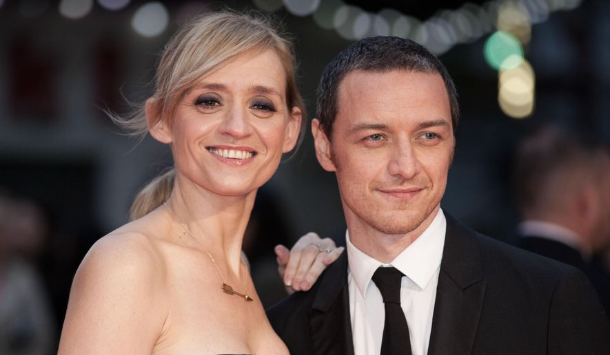 "FILE - In this Oct. 7, 2015 file photo, actors Anne-Marie Duff and James McAvoy pose for photographers upon arrival at the premiere of the film ""Suffragette,"" at the opening gala of the London film festival in London. McAvoy and Duff are ending their nearly 10-year marriage. The couple released a joint statement Friday, May 13, 2016, announcing their divorce and commitment to co-parenting their five-year-old son. (Photo by Grant Pollard/Invision/AP, File)"