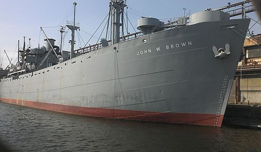 World War II-era Liberty ship the U.S.S. John W. Brown. Photo via Wikimedia Commons by MKelly1990 - Own work. This photo was uploaded with Wiki Loves Monuments mobile 1.2.3-1 (Android)., CC BY-SA 3.0, https://commons.wikimedia.org/w/index.php?curid=21630562