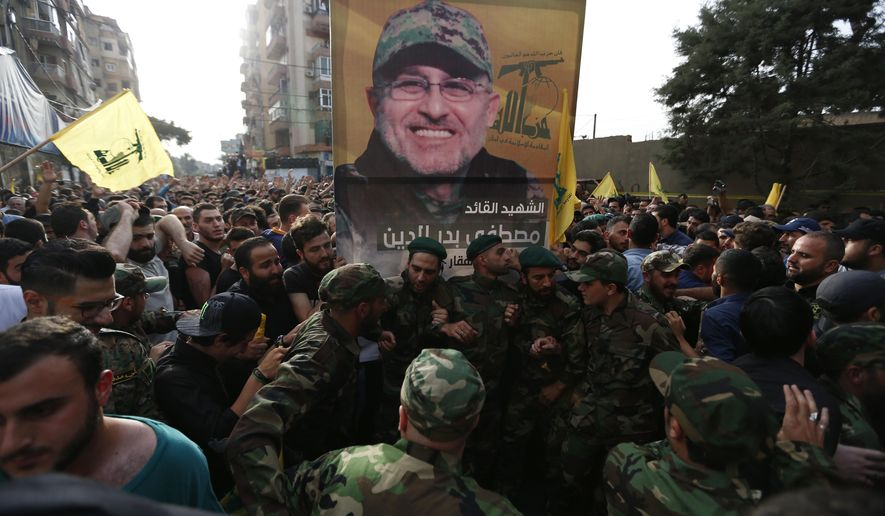 Hezbollah supporters mourned their commander Mustafa Badreddine, who was killed in an explosion last year in Damascus. The Lebanese Shiite group has played a significant role in the conflict next door, but there are signs that its alliance with the Syrian government is fraying. (Associated Press/File)