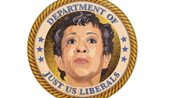 Seal for the Loretta Lynch Justice Department Illustration by Greg Groesch/The Washington Times