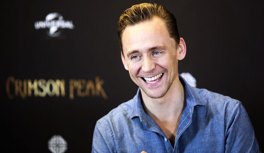"In this Wednesday, Sept. 30, 2015, file photo, actor Tom Hiddleston poses during a photo-call to promote the film ""Crimson Peak"" in Berlin, Germany. (AP Photo/Markus Schreiber, file)"