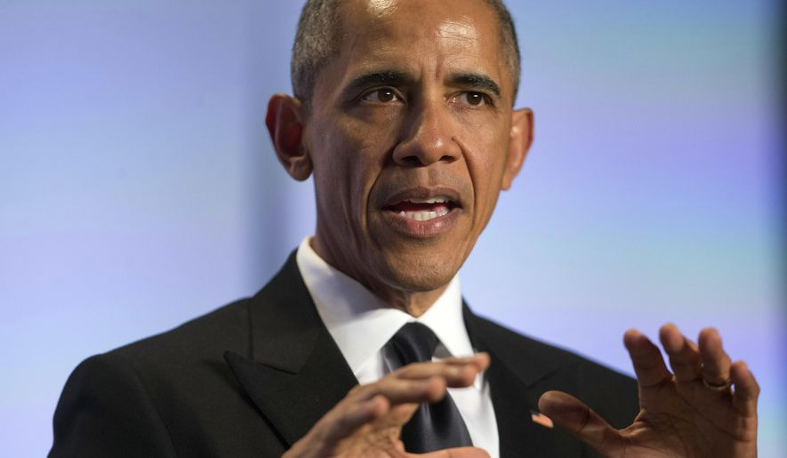 FILE - In this May 4, 2016 file photo, President Barack Obama speaks in Washington. Thinking ahead to their 250th anniversary celebration, Rutgers University invited President Barack Obama to speak at this year's graduation nearly three years ago.  (AP Photo/Pablo Martinez Monsivais, File)