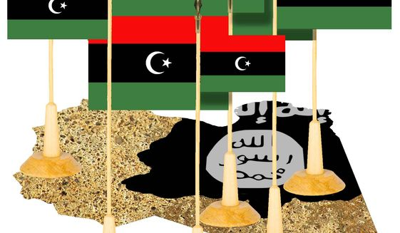 Illustration on the perils of further Libyan disunity by Alexander Hunter/The Washington Times