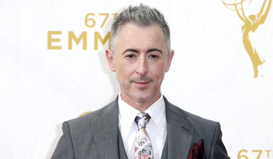 FILE-This Sept. 20, 2015, file photo shows Alan Cumming arriving at the 67th Primetime Emmy Awards, at the Microsoft Theater in Los Angeles. Cumming says he's pleased to be hosting the first LGBT gala ever held at the United Nations, but he also finds it a bit silly that it's taken so long. The gala Monday, May 16, 2016, is sponsored by Outright Action International marks something of a turning point at the U.N. which only last August held the first Security Council meeting spotlighting violence and discrimination against lesbians, gays, bisexuals and transgender people. (Photo by Danny Moloshok/Invision for the Television Academy/AP Images, File)