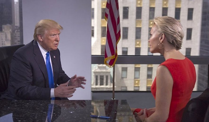 Fox News host Megyn Kelly showcases a long awaited personal with Donald Trump. (Fox Broadcast)