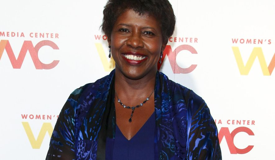 """FILE - In this Nov. 5, 2015 file photo, """"NewsHour"""" co-anchor Gwen Ifill attends The Women's Media Center 2015 Women's Media Awards in New York. Ifill has been on leave for weeks for an undisclosed health issue. PBS said  she is doing well and plans to return to the air around Memorial Day. (Photo by Andy Kropa/Invision/AP, File)"""
