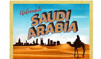 Welcome to Saudi Illustration by Greg Groesch/The Washington Times
