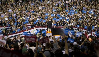 Democratic presidential candidate Sen. Bernard Sanders of Vermont addresses supporters during a rally on Tuesday in Carson, Calif. (Associated Press)
