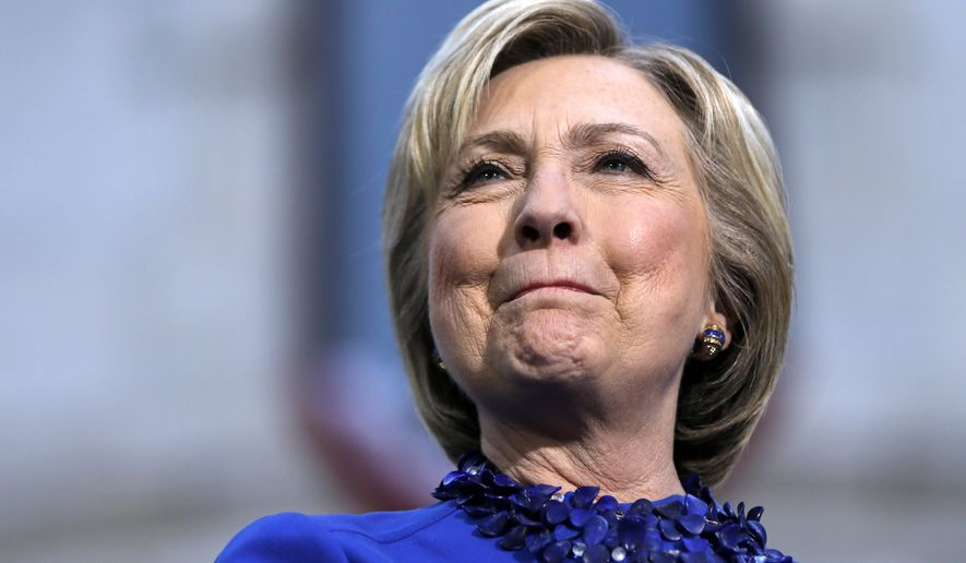 """Hillary Clinton was not scheduled to appear publicly Tuesday night, but she claimed victory via social media, tweeting that """"We just won Kentucky! Thanks to everyone who turned out. We're always stronger united."""" (Associated Press)"""