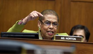 Delegate Eleanor Holmes Norton made her annual play in the name of voting rights for the District of Columbia but got no farther down the field. (Associated Press/File)