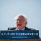 "Rage: ""I say to the leadership of the Democratic Party: Open the doors, let the people in,"" presidential candidate Bernard Sanders said at a rally Tuesday. (Associated Press)"