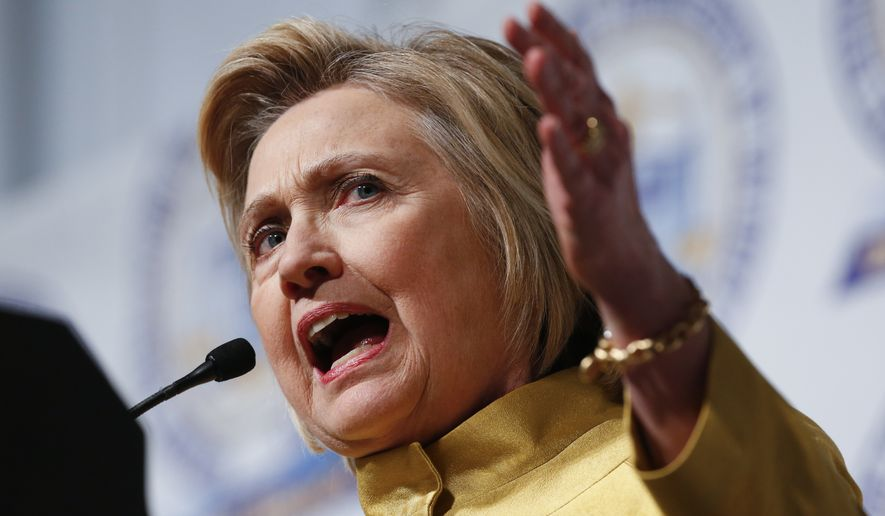 Hillary Clinton's provocations will be on the minds of thousands of Second Amendment activists gathering in Louisville beginning Thursday as the National Rifle Association hosts its annual meetings. (Associated Press)