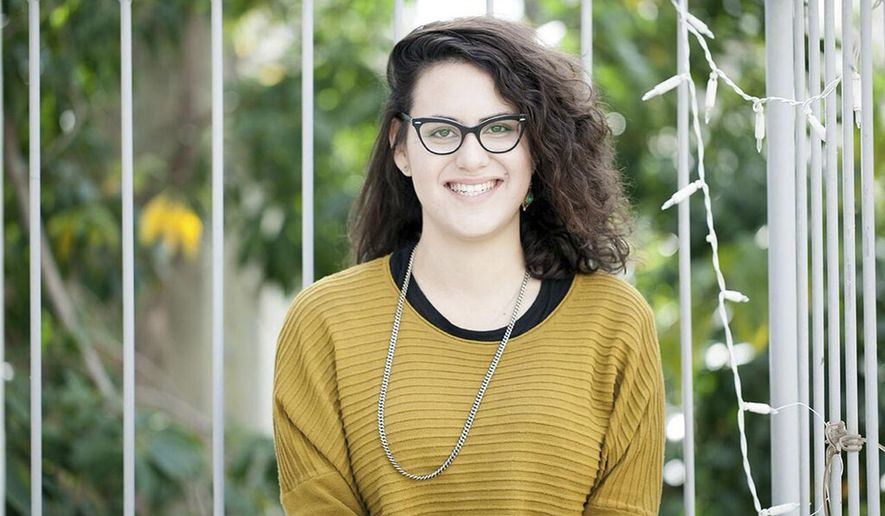 This undated photo released by the Mesarvot non-governmental organization shows, Tair Kaminer, a 19-year-old Israeli woman who spent more than three months in military prison in what supporters say is the longest sentence ever handed down to a female conscientious objector in Israel. Kaminer is refusing to perform compulsory military service because of her opposition to Israel's nearly 50-year military occupation of captured lands sought by the Palestinians. (Shani Scarlett Kagan/Mesarvot via AP)