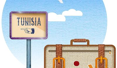 Travel Tunisia Illustration by Greg Groesch/The Washington Times