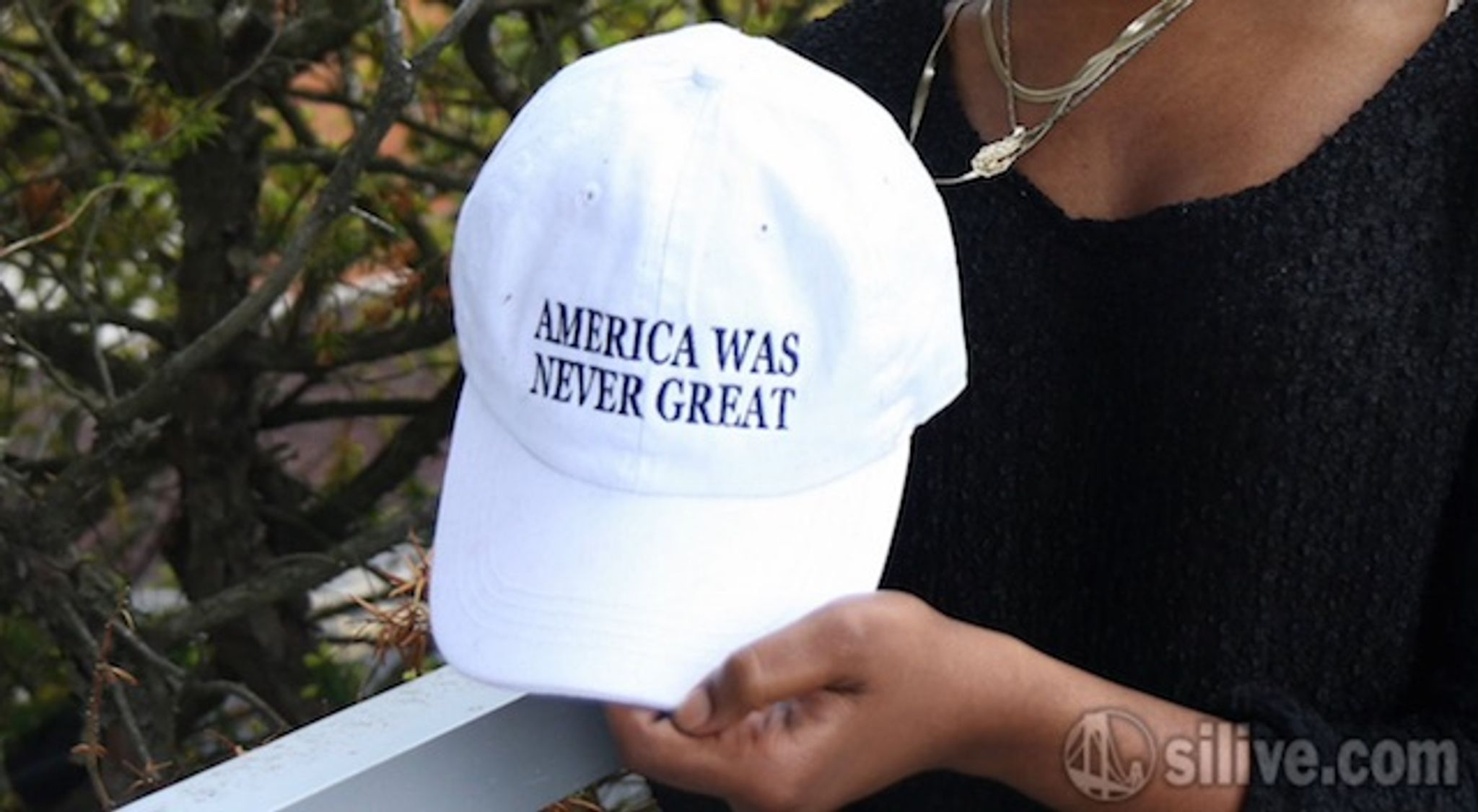7dc1a933f0a  America Was Never Great   Home Depot employee s hat sparks outrage