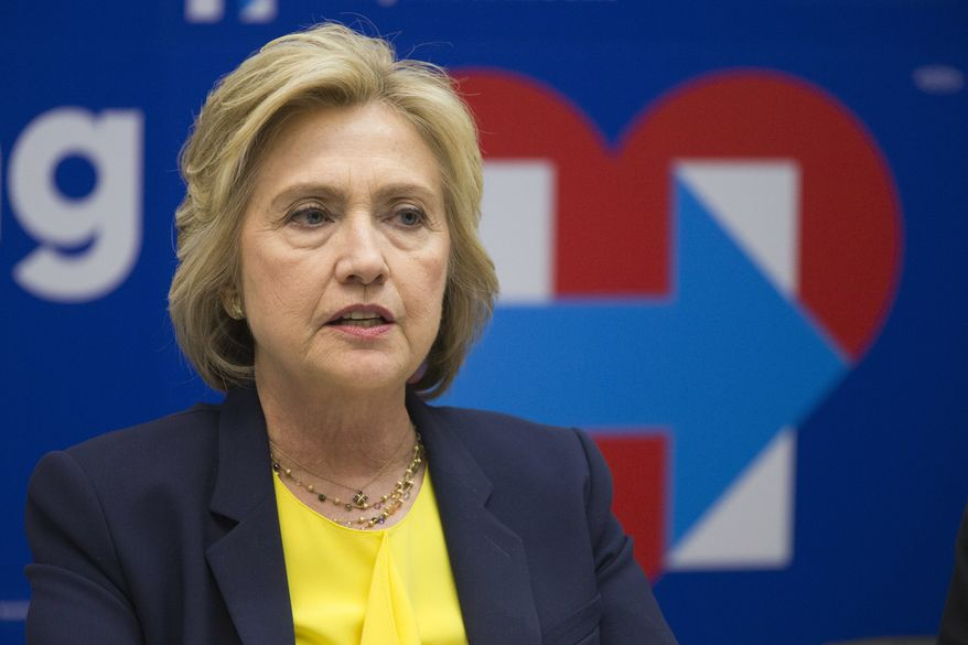 Democratic presidential candidate Hillary Clinton speaks in New York on May 12, 2016. (Associated Press) **FILE**