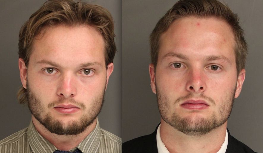Caleb (left) and Daniel Tate. (Image: Chester County District Attorney's Office)