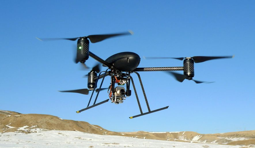 The use of drones by TV news teams is increasing, according to a new industry survey. (Associated Press) **FILE**