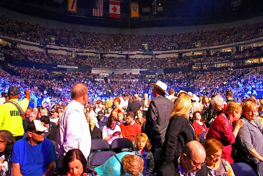 The scope of the National Rifle Association's annual meeting is huge; the event drew 80,000 people in 2015, with more expected in 2016. (NRA image for Inside the Beltway)