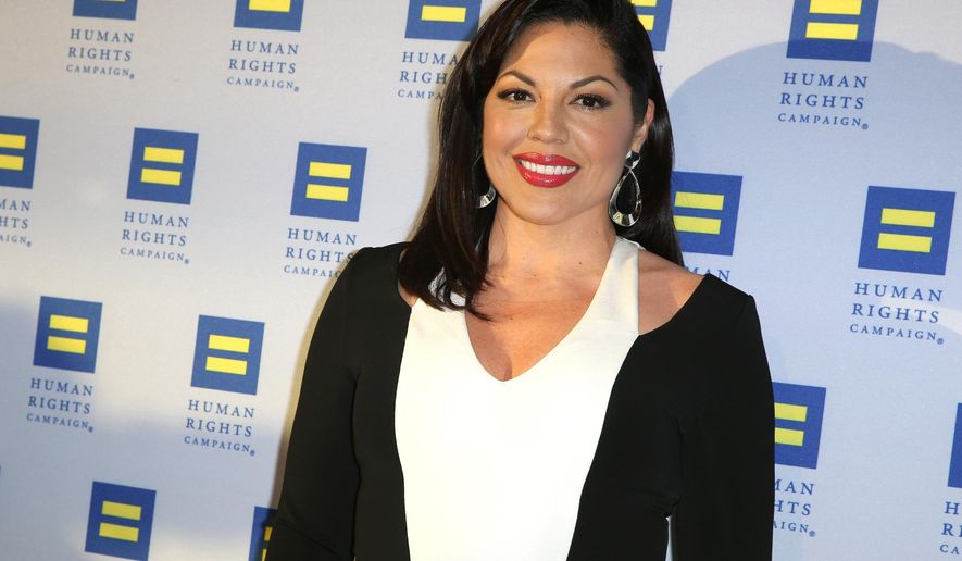 "FILE - In this March 14, 2015 file photo, Sara Ramirez arrives at the 2015 Human Rights Campaign Gala Dinner at the JW Marriott LA Live in Los Angeles. Surgeon Callie Torres is turning in her scalpel at Grey Sloan Memorial Hospital. Ramirez, who plays Dr. Torres on ""Grey's Anatomy,"" tweeted Thursday, May 19, 2016, that she's taking ""welcome time off"" after 10 years with the ABC medical drama. (Photo by Rich Fury/Invision/AP, File)"