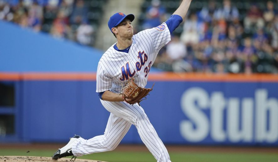 New York Mets' Steven Matz delivers a pitch during the first inning of a baseball game against the Milwaukee Brewers on Friday, May 20, 2016, in New York. (AP Photo/Frank Franklin II)