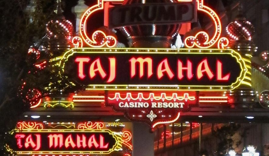 "FILE - This Oct. 24, 2014 photo shows the Trump Taj Mahal Casino Resort in Atlantic City, N.J. The name on the front still reads ""Trump,"" but a different flamboyant billionaire now wants to make the Taj Mahal casino great again. (AP Photo/Wayne Parry, File)"