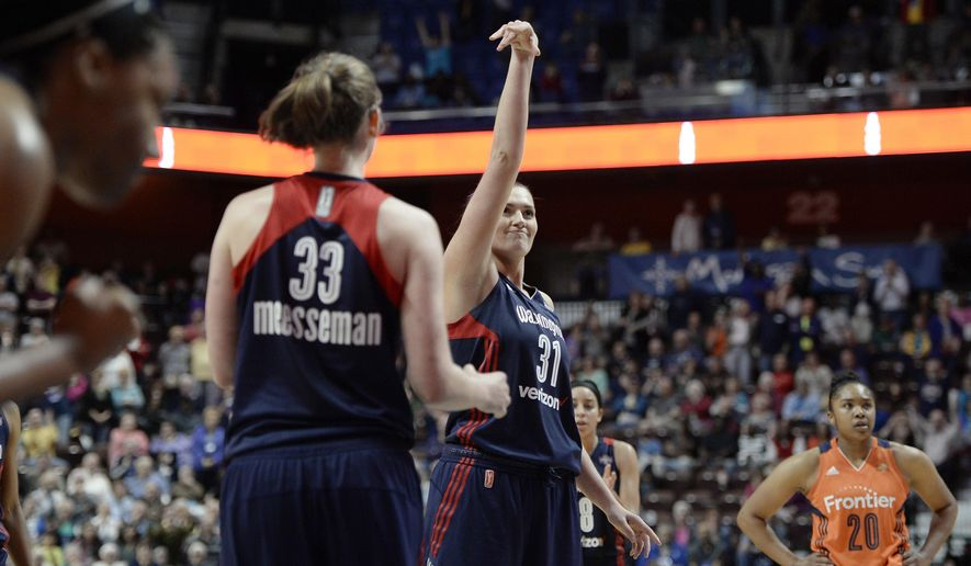 Washington Mystics' Stefanie Dolson (31) and Emma Meesseman (33) (Associated Press/File)