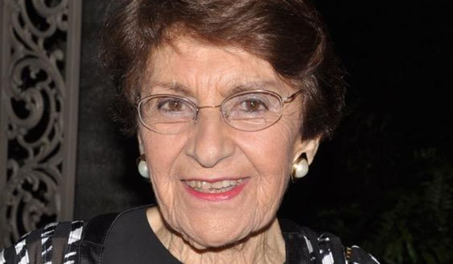 This March 5, 2016 photo provided by Jeanette Lerman-Neubauer shows Rosalie Chris Lerman.  Lerman, a survivor of the Auschwitz-Birkenau Nazi death camp who was the wife of the founder of the U.S. Holocaust Memorial Museum and a passionate advocate of Holocaust remembrance has died. She was 90. Her daughter Jeanette Lerman-Neubauer said her mother passed away Thursday, May 19, 2016 of natural causes. (Jeanette Lerman-Neubauer via AP)